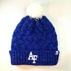 NWT Air Force Falcon's 47 Brand Toboggan Hat Blue